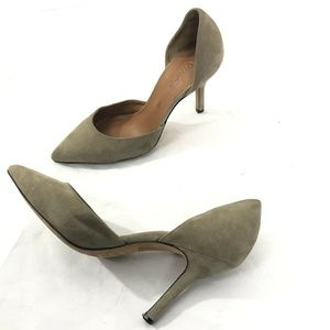 Vince. Suede Leather D'orsay Heels pointed toe